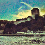 Rumeli Fortress from the Bosphorus in Istanbul - a digital painting